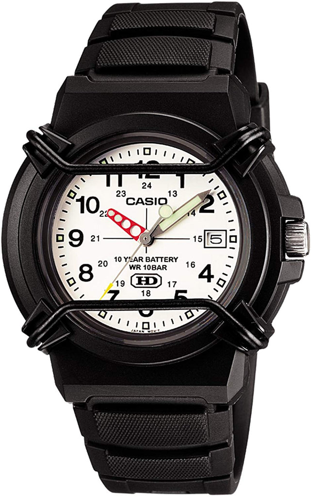 CASIO STANDARD Watch HDA-600B-7BJF Analog Black WATER RESIST 10bar Japan