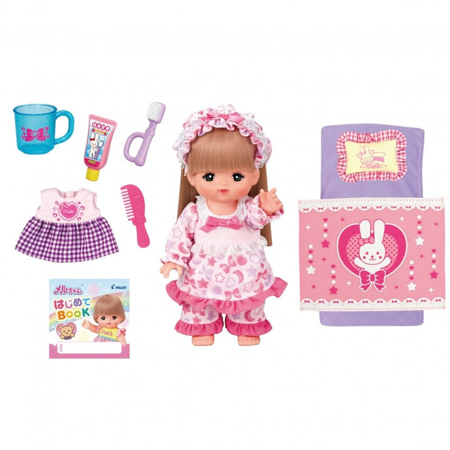 Mell Chan Pretend Play Doll Set Long Hair Pilot Japan