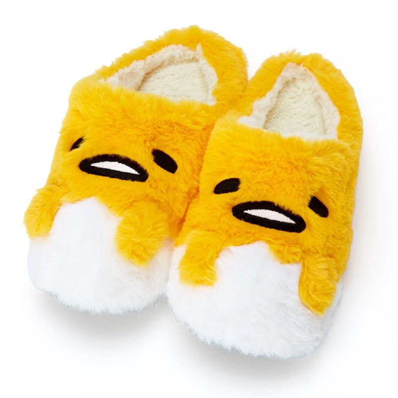 Gudetama Egg Boa Room Shoes Sanrio Japan