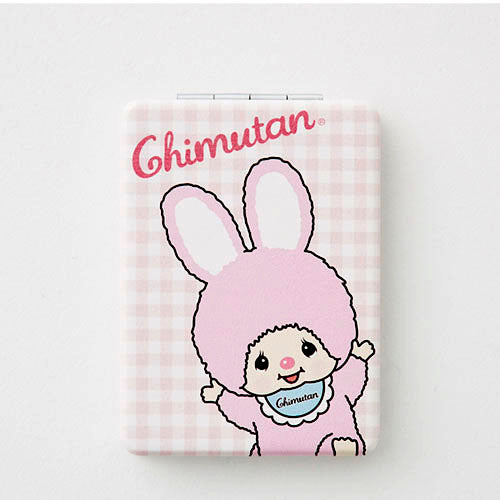 Chimutan Compact Mirror Plaid Monchhichi Japan