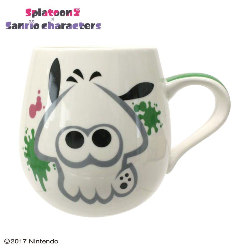 Pochacco Mug Cup Squid Splatoon 2 Sanrio Japan
