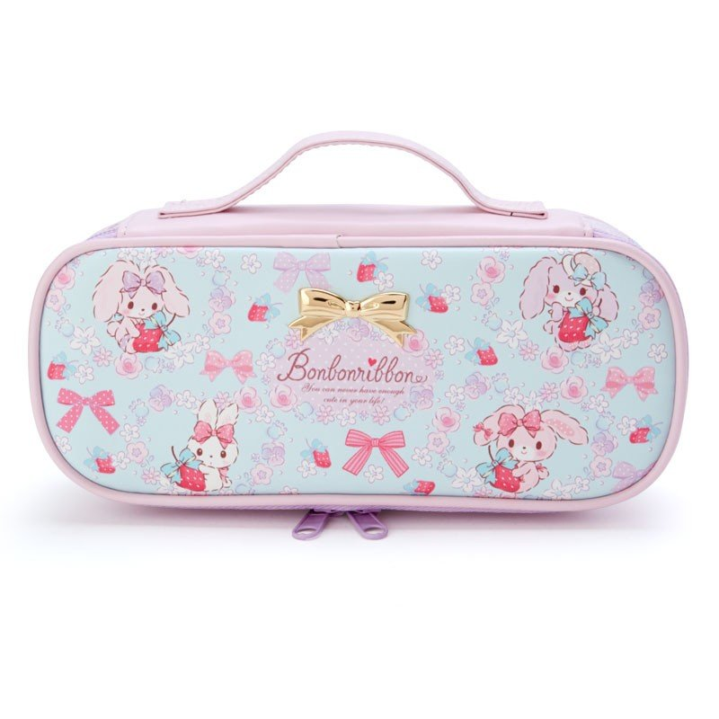 Bonbonribbon Pen Case Pencil Pouch Strawberry Sanrio Japan