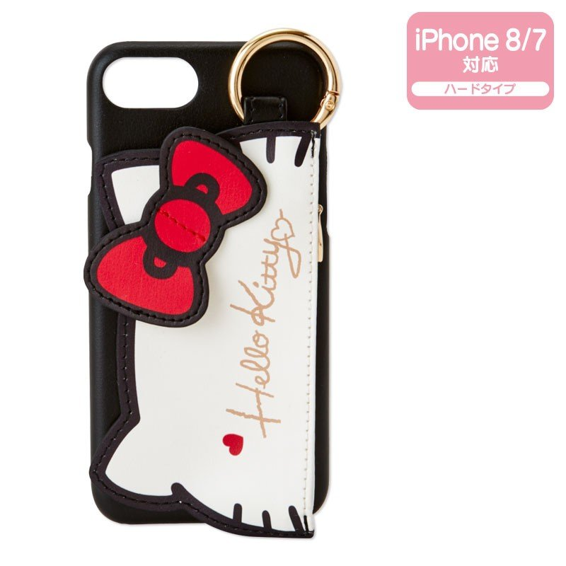 Hello Kitty iPhone 7 8 Case Cover with Pouch Sanrio Japan