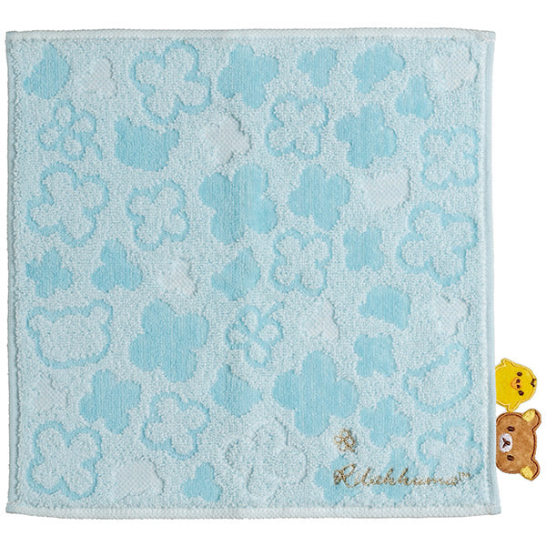 Rilakkuma & Kiiroitori Yellow Chick mini Towel Blue San-X Japan