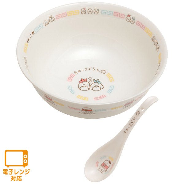 Sumikko Gurashi Ramen Bowl with Spoon Chinese Cuisine San-X Japan