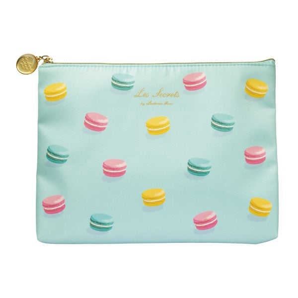 Flat Pouch Macarons Mint Laduree Japan