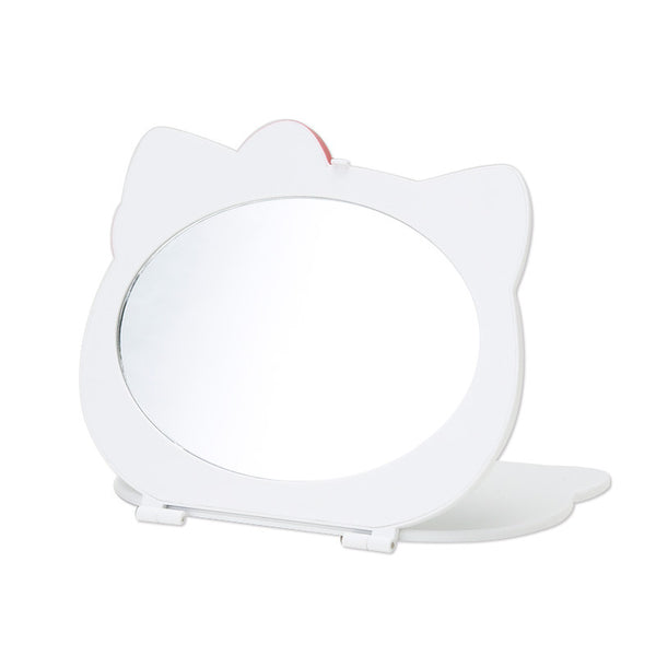 Hello Kitty face-type Folding Mirror white Sanrio Japan