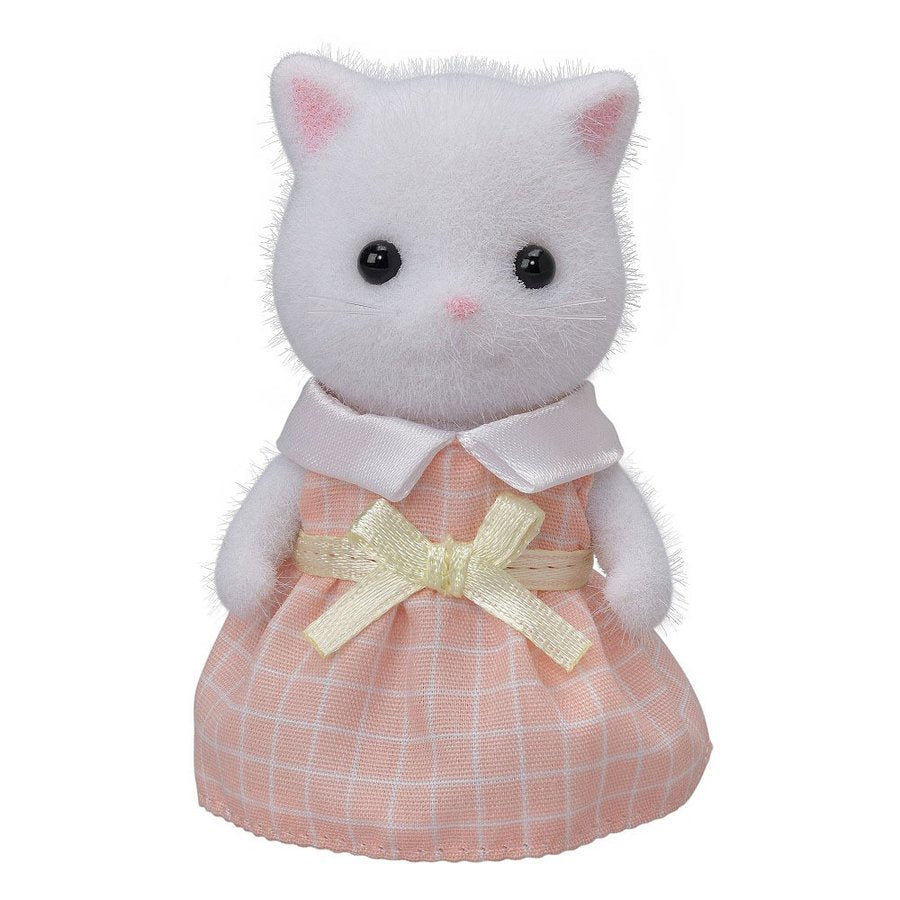 Sylvanian Families White Persian Cat Girl Doll NI-105 EPOCH Japan