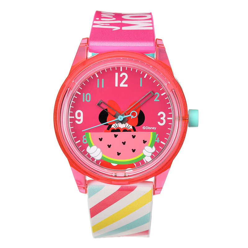 Minnie Q&Q SmileSolar Watch Watermelon Disney Store Japan