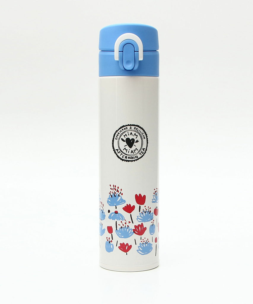 Thermos Stainless Slim Bottle 400ml Edith Carron White Afternoon Tea Japan