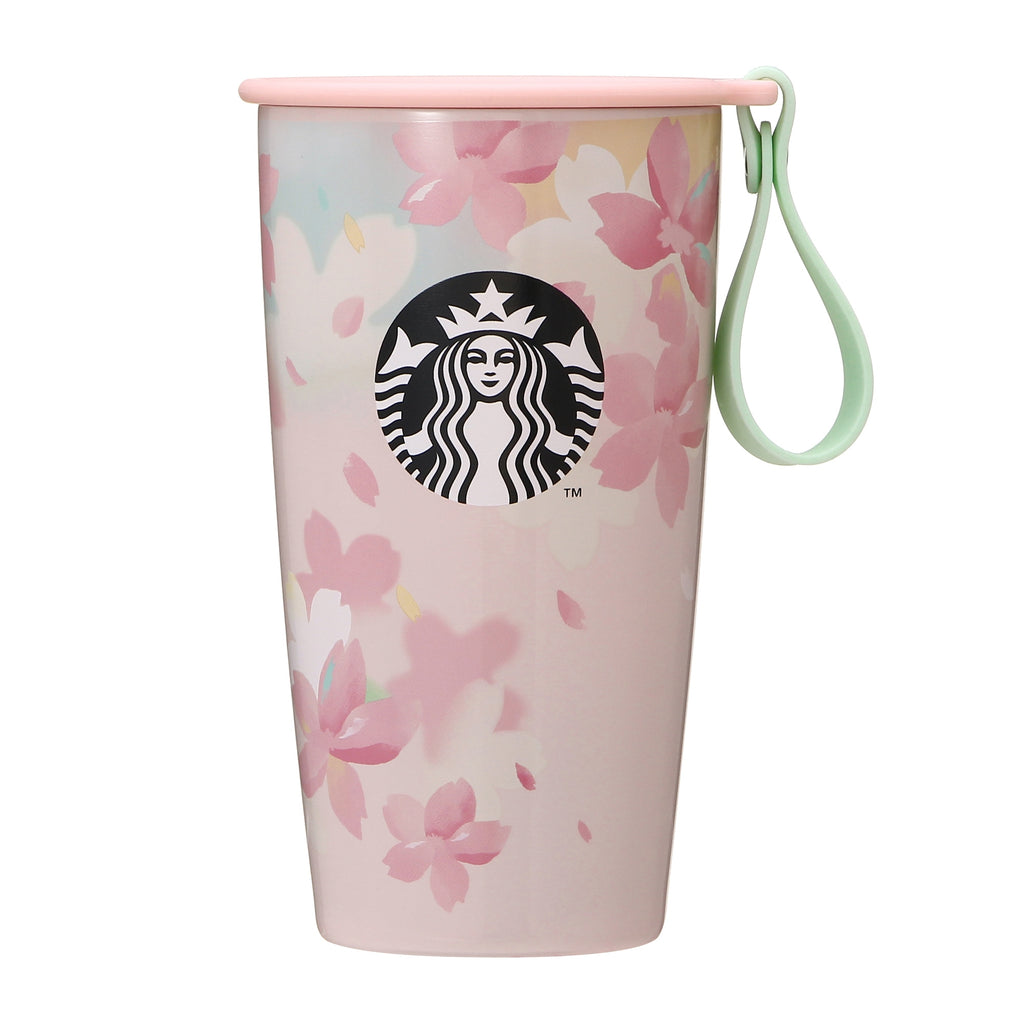 Stainless Tumbler Strap Cup Shape Bottle 355ml SAKURA 2020 Starbucks Japan 12oz