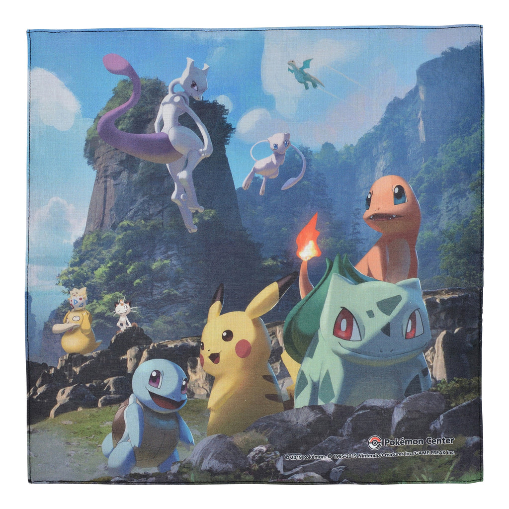 Handkerchief Mewtwo Strikes Back Evolution Pokemon Center Japan Original