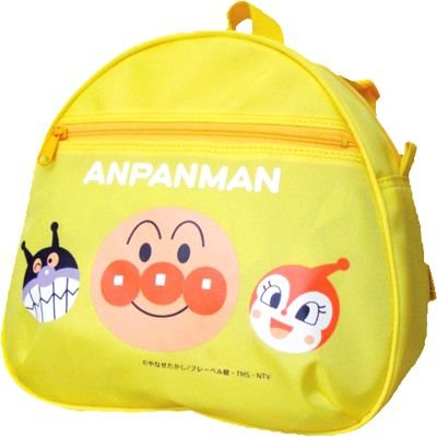 Anpanman Backpack Day Bag Yellow Japan Kids ANW-2800