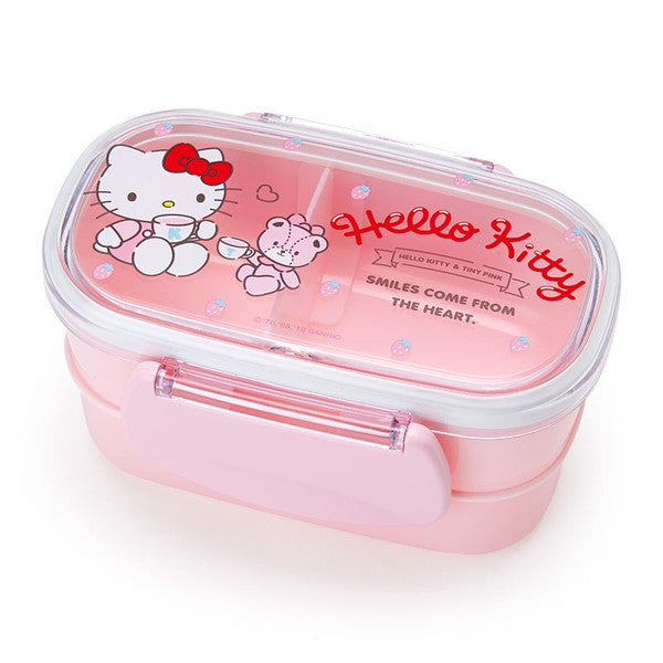 Hello Kitty Lunch Box Bento 2 Stage Strawberry Sanrio Japan