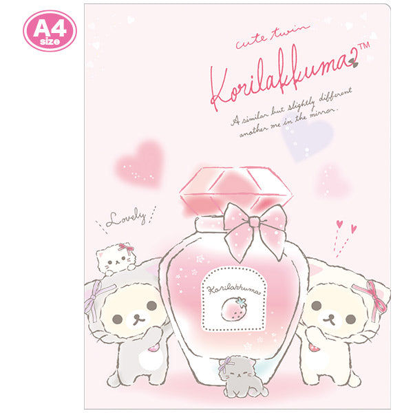 Korilakkuma in the Mirror File Holder 10 pockets Pink San-X Japan Rilakkuma