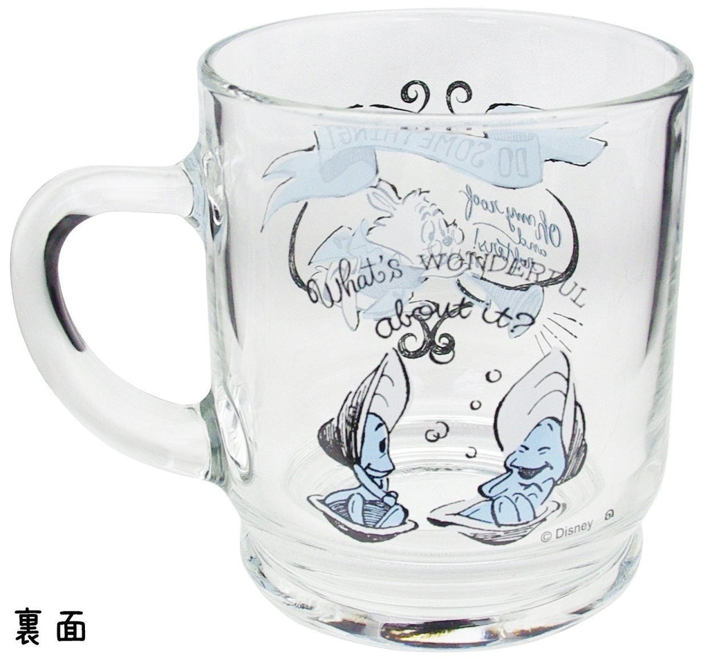 Yong Oyster & White Rabbit Aderia Glass Mug Cup Disney Japan Alice Wonderland