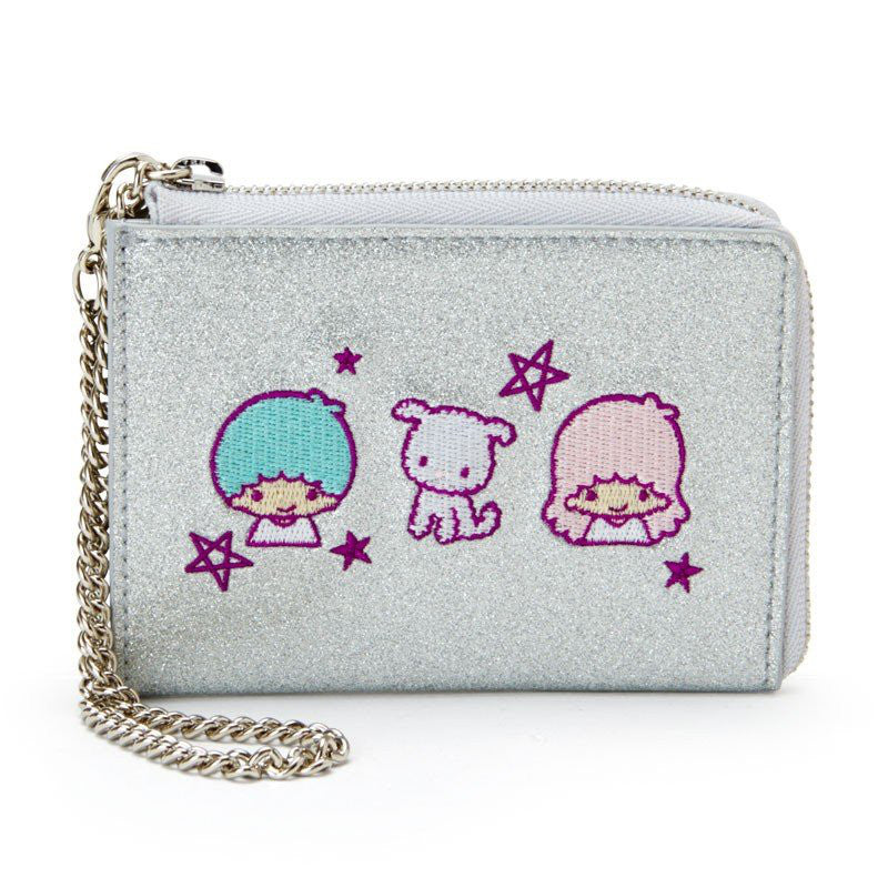 Little Twin Stars ID Card Pass Case w/ Chain Spark Decoration Sanrio Japan