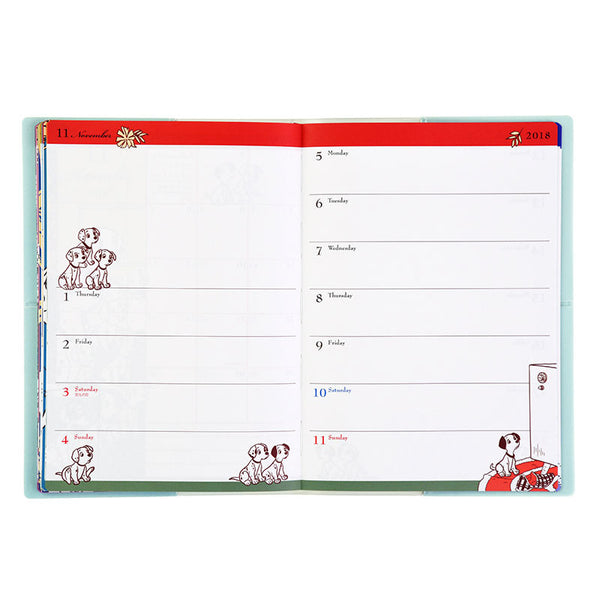2018 Schedule Notebook B6 Weekly FASHION-ONE LOVE Disney Store Japan