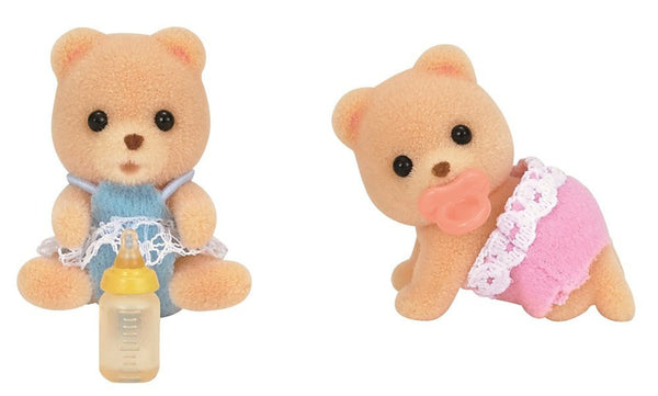 Bear Baby Twins Doll I-97 Sylvanian Families Japan Calico Critters
