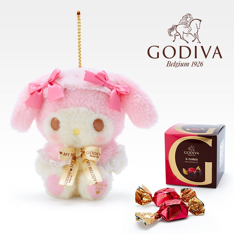 My Melody Plush Keychain GODIVA Chocolate Sanrio Japan Valentine's Day 2021