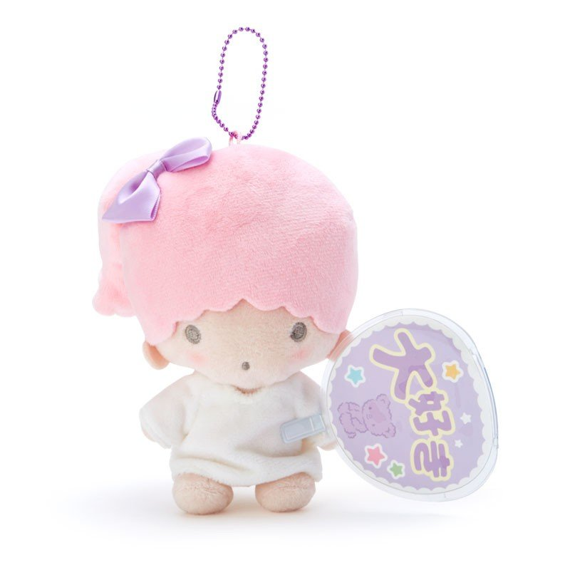 Little Twin Stars Lala Plush Mascot Holder Keychain Fan Enjoy Idol Sanrio Japan