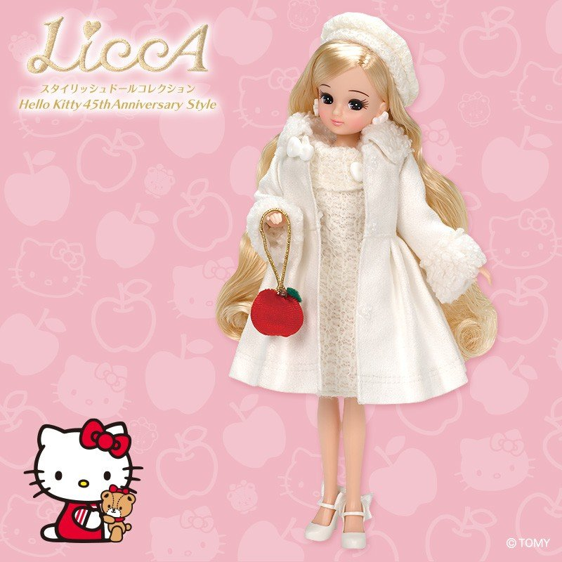 Licca Chan Doll Hello Kitty 45th Anniversary style Sanrio Japan Limit Box