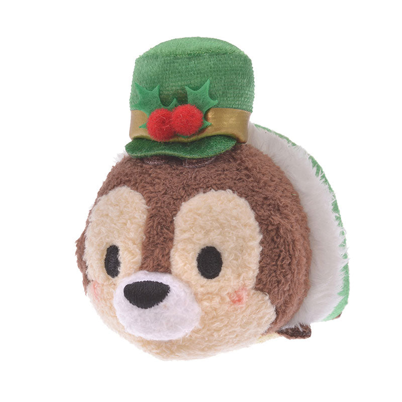 Chip Tsum Tsum Plush Doll mini S Holly Disney Store Japan Christmas 2019