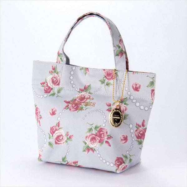 Tote Bag S Rose & Pearl Gray Laduree Japan
