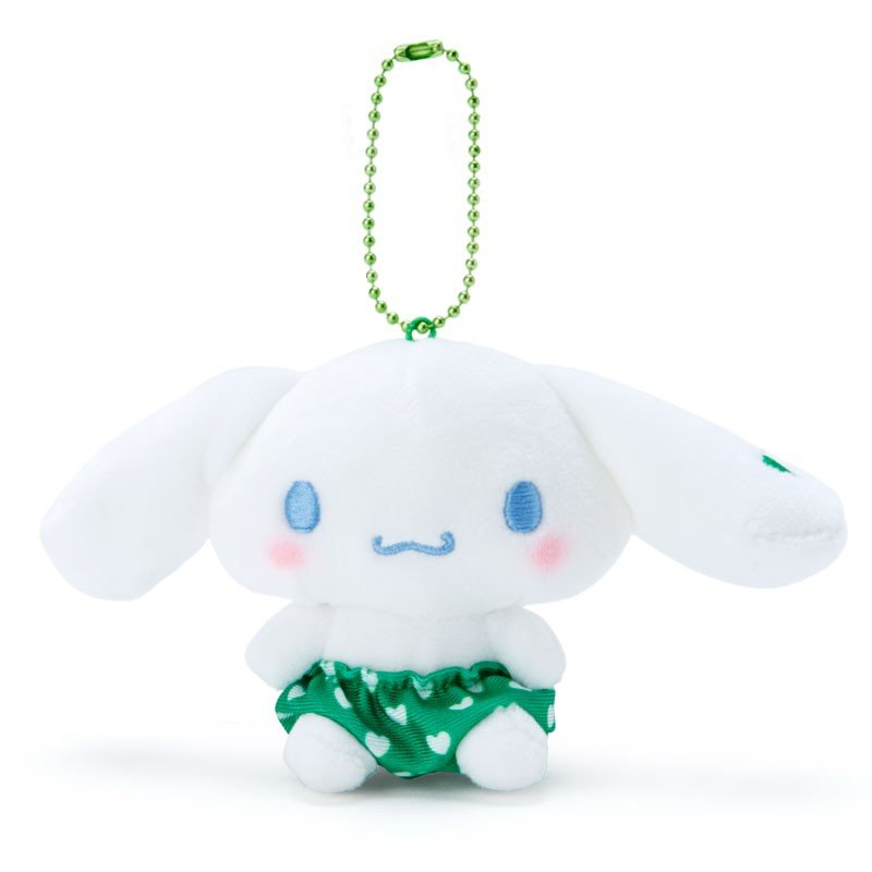 Cinnamoroll Plush Mascot Holder Keychain Green Recommend Color Sanrio Japan
