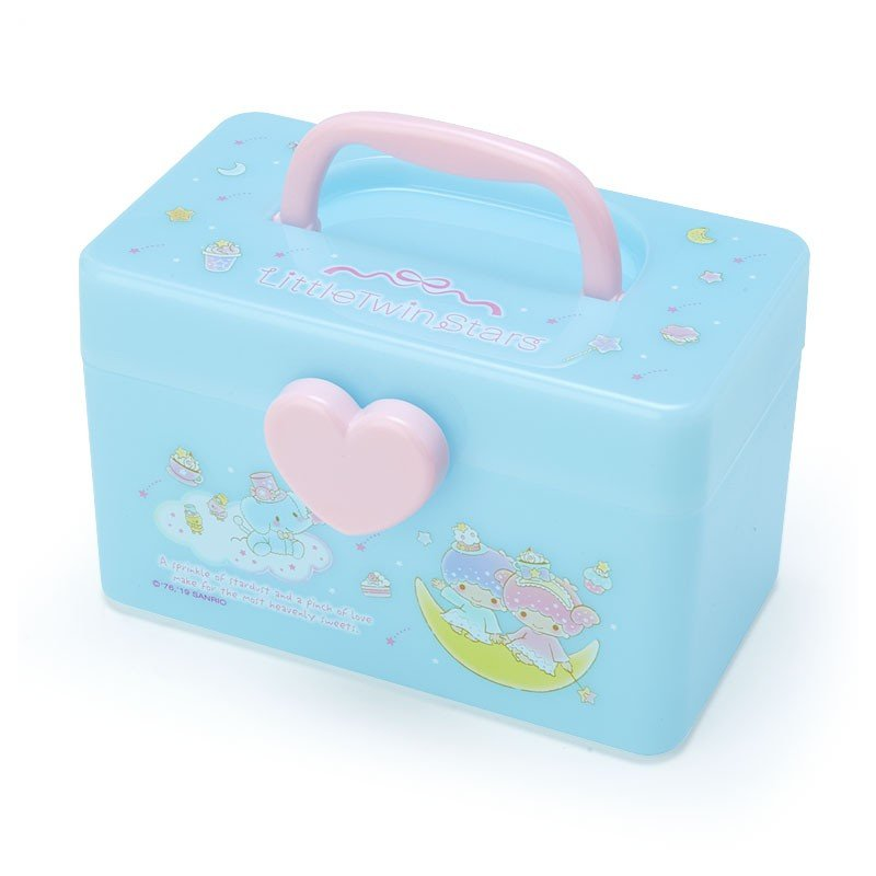 Little Twin Stars Kiki Lala Storage Box S with Handle Sanrio Japan