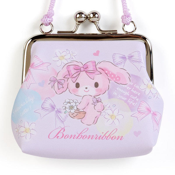 Bonbonribbon Clasp Coin Case Pouch with Rope Sanrio Japan