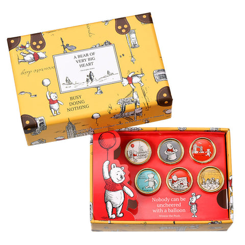 Winnie the Pooh & Friends Pin Badge Set Christopher Robin Disney Store Japan