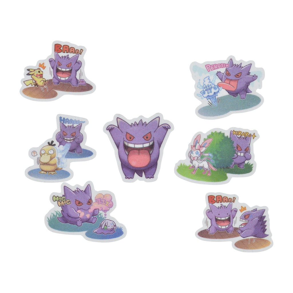 Masking Tape Die-Cut Gengar de Hiyari !? Pokemon Center Japan Original