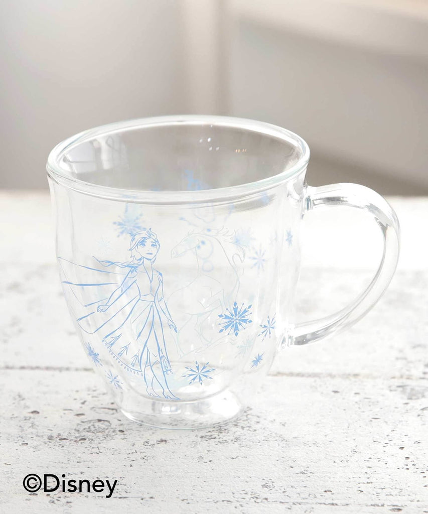 Frozen 2 Elsa & Olaf Glass Mug Cup Double Wall Afternoon Tea Disney Japan