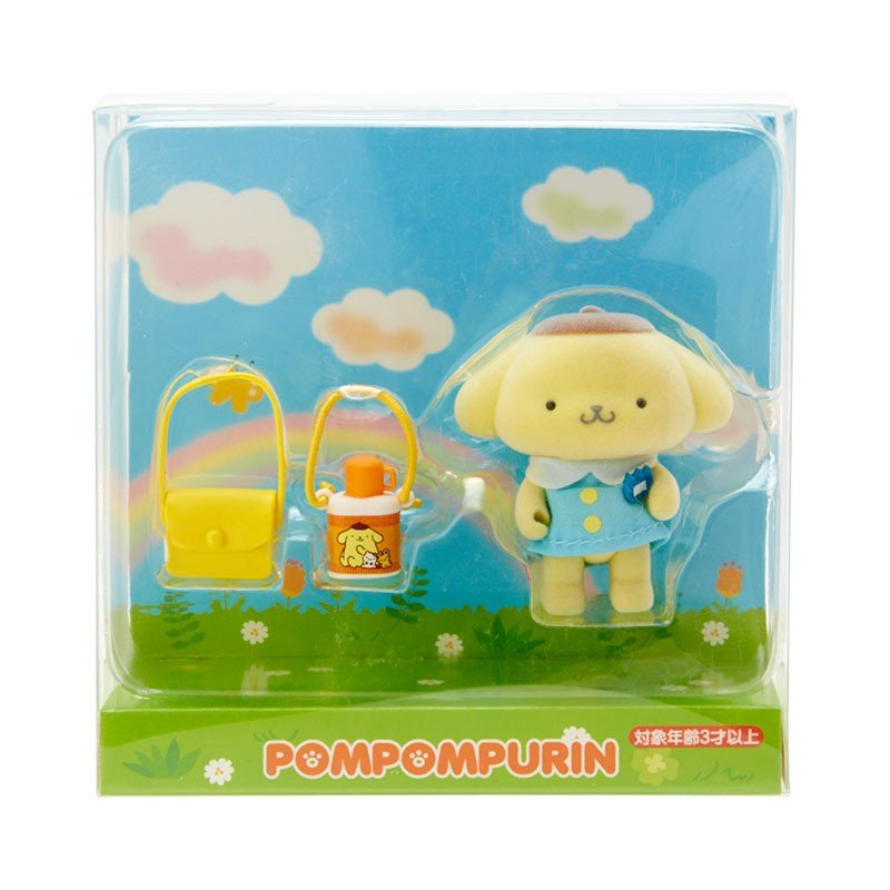 Pom Pom Purin Flocky Mascot with Box Nostalgic Kindergarten Sanrio Japan