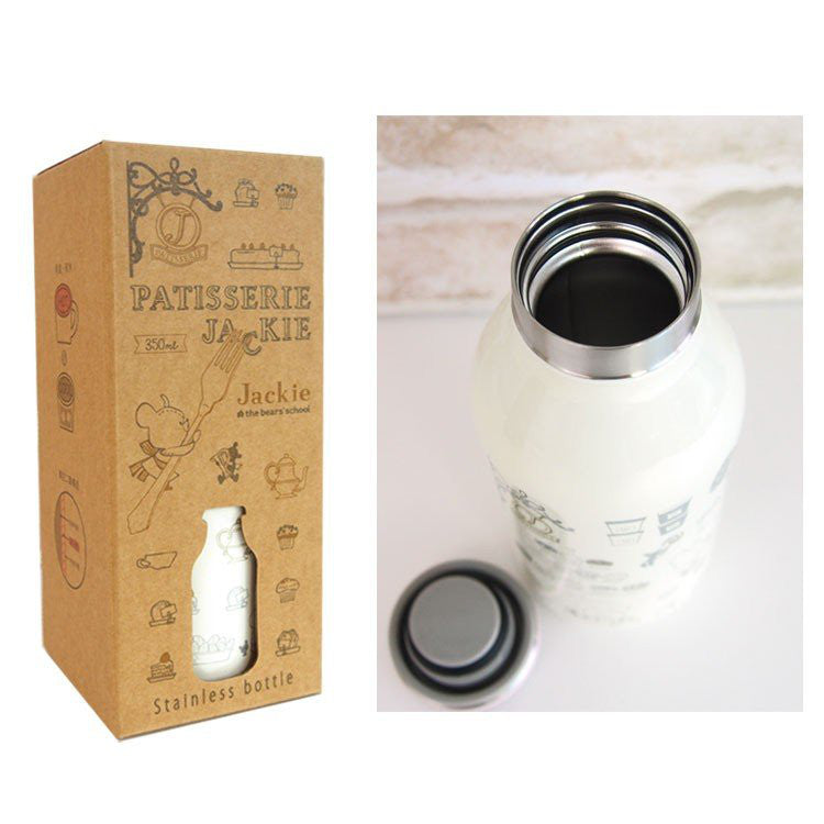 Jackie Stainless Bottle 350ml White the bears' school Japan