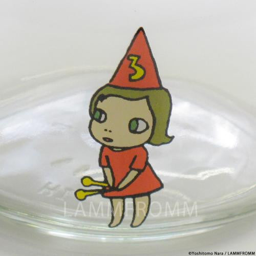 Yoshitomo Nara Glass Storage Jar S Girl 3 Orange Japan Art