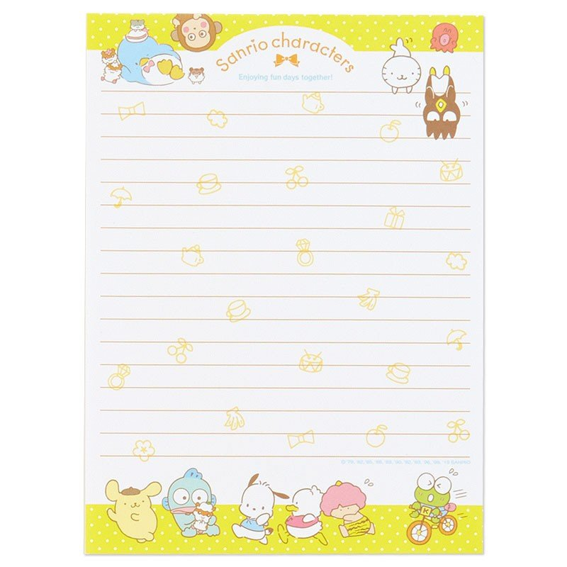 Volume Letter Set Character Sanrio Japan 2019