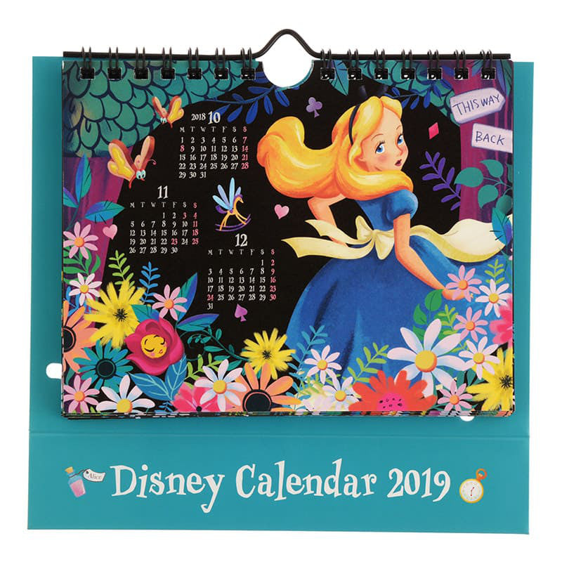 Alice in Wonderland 2019 Desktop Wall Calendar Pop Up Disney Store Japan