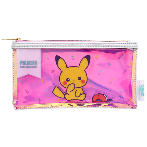 Pikachu Girly Collection Pen Case Pencil Pouch Pose Pink Pokemon Center Japan
