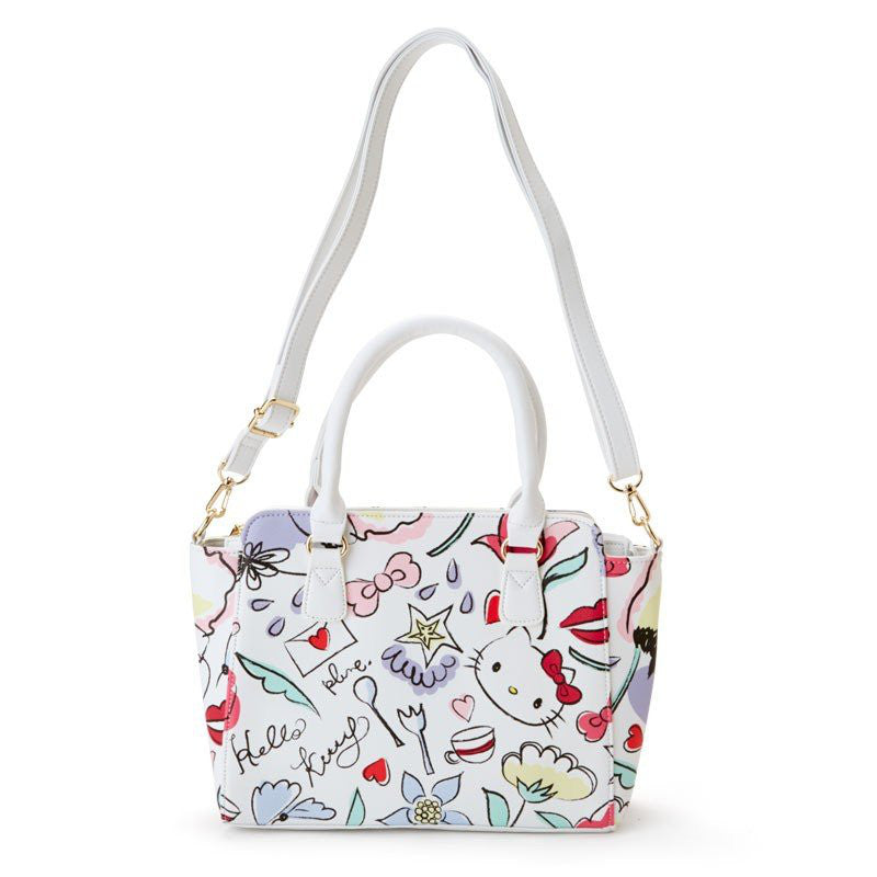 da433765e7f7 Hello Kitty 2WAY Tote Shoulder Bag White Sanrio Japan