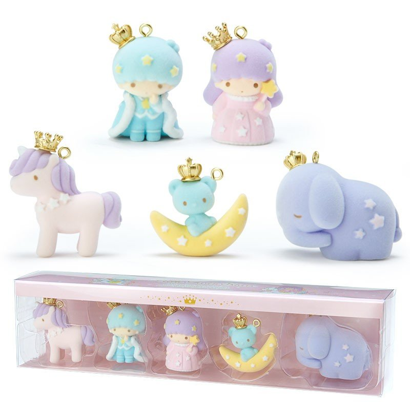 Little Twin Stars Kiki Lala Flocky Mascot Set Aurora Crown Sanrio Japan