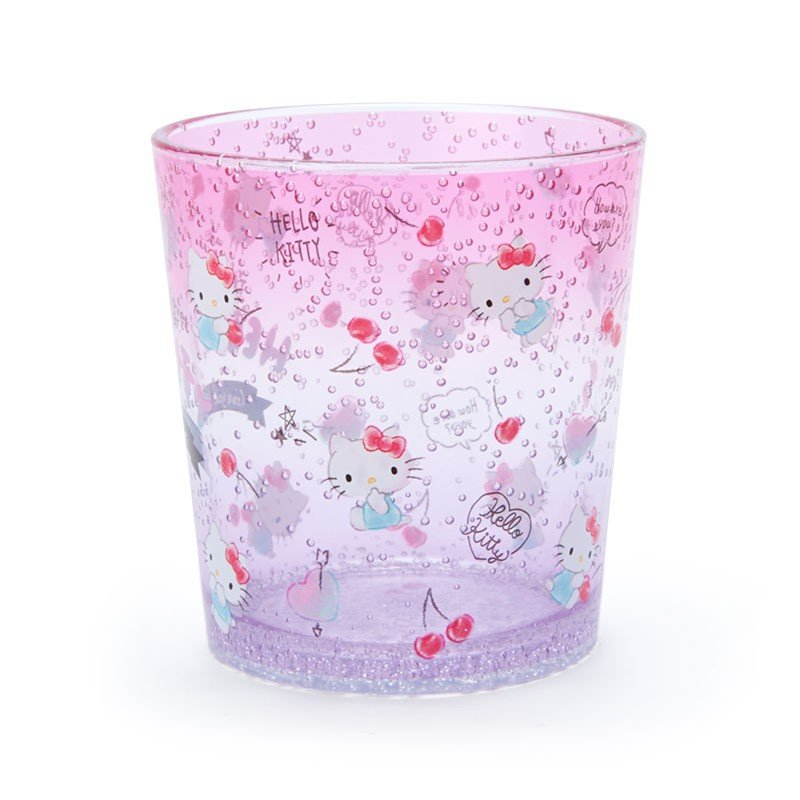 Hello Kitty Plastic Cup Clear Tumbler Sanrio Japan