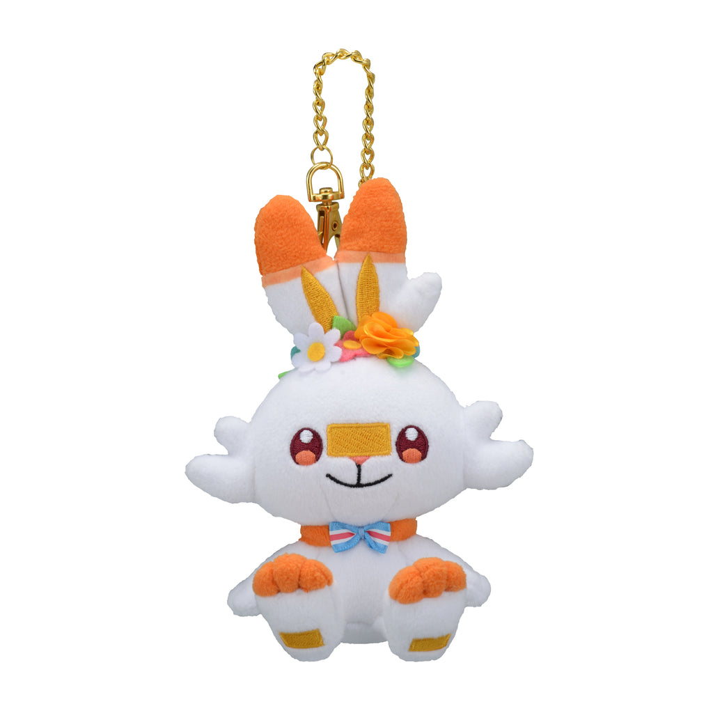 Scorbunny Hibanny Plush Keychain Easter Pokemon Center 2020 Japan