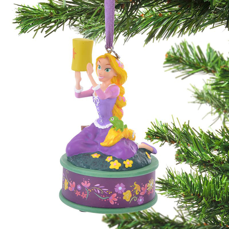 Rapunzel & Pascal Christmas Tree Ornament Singing Disney Store Japan 2018
