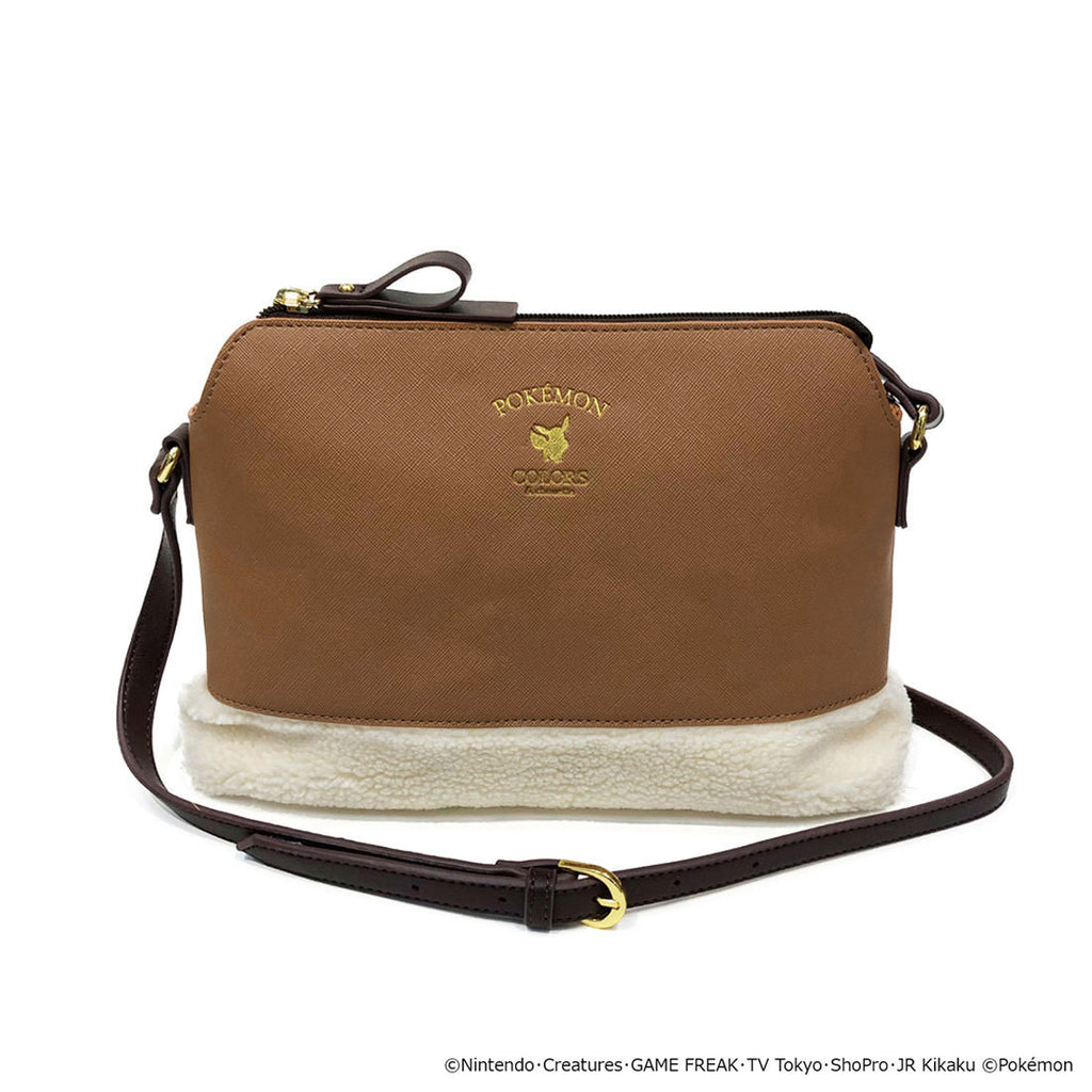 Eevee Eievui Shoulder Bag Eievui & Friends Brown Pokemon COLORS & chouette Japan