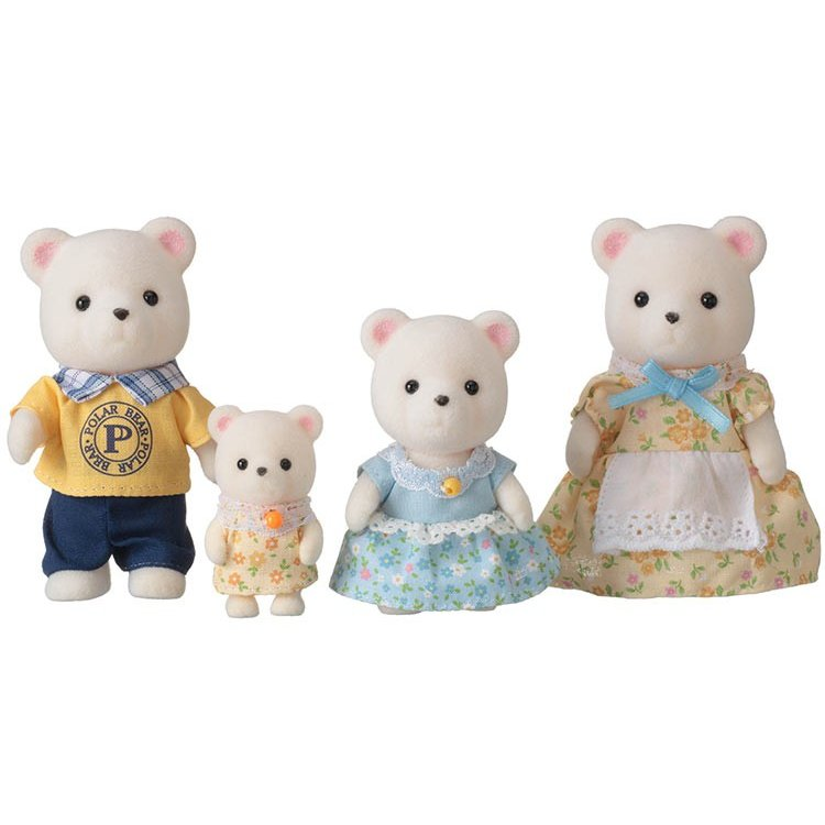Sylvanian Families White Polar Bear Family Doll Set FS-19 EPOCH Japan