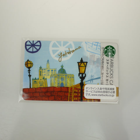 Starbucks Gift Card Japan Limited YOKOHAMA w/ sleeve New logo