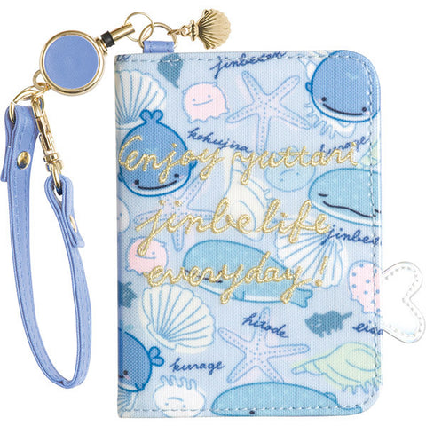 Jinbei San Whale Shark ID Card Pass Case Reel Deep Sea Friends San-X Japan