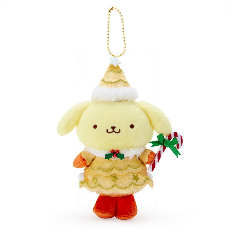 Pom Pom Purin Plush Mascot Holder Keychain Christmas Fairy Sanrio Japan 2020